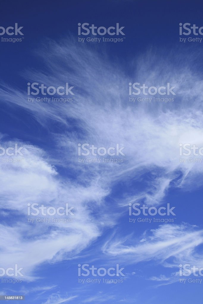 blue sky with cirrus clouds royalty-free stock photo