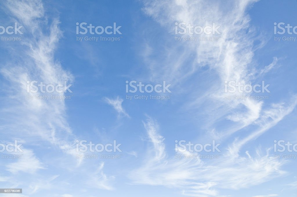 Blue Sky with Cirrus royalty-free stock photo