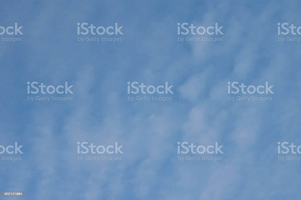 Blue Sky with Cirus Clouds Background stock photo