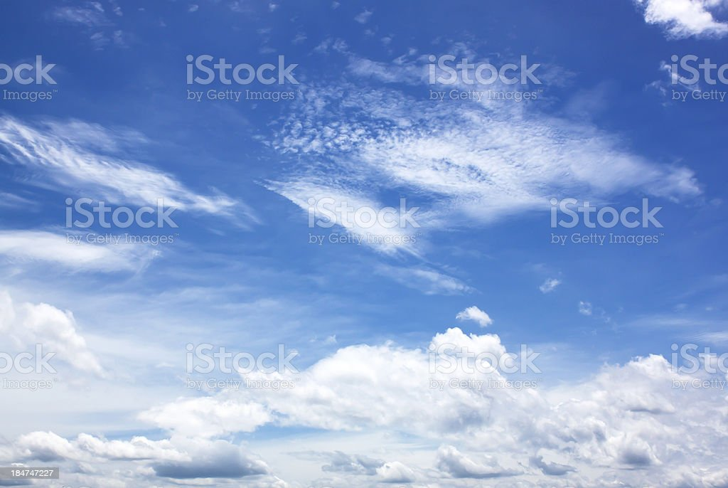 Blue sky with cloud closeup royalty-free stock photo