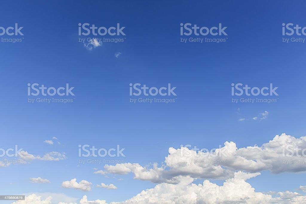 blue sky with cloud closeup stock photo