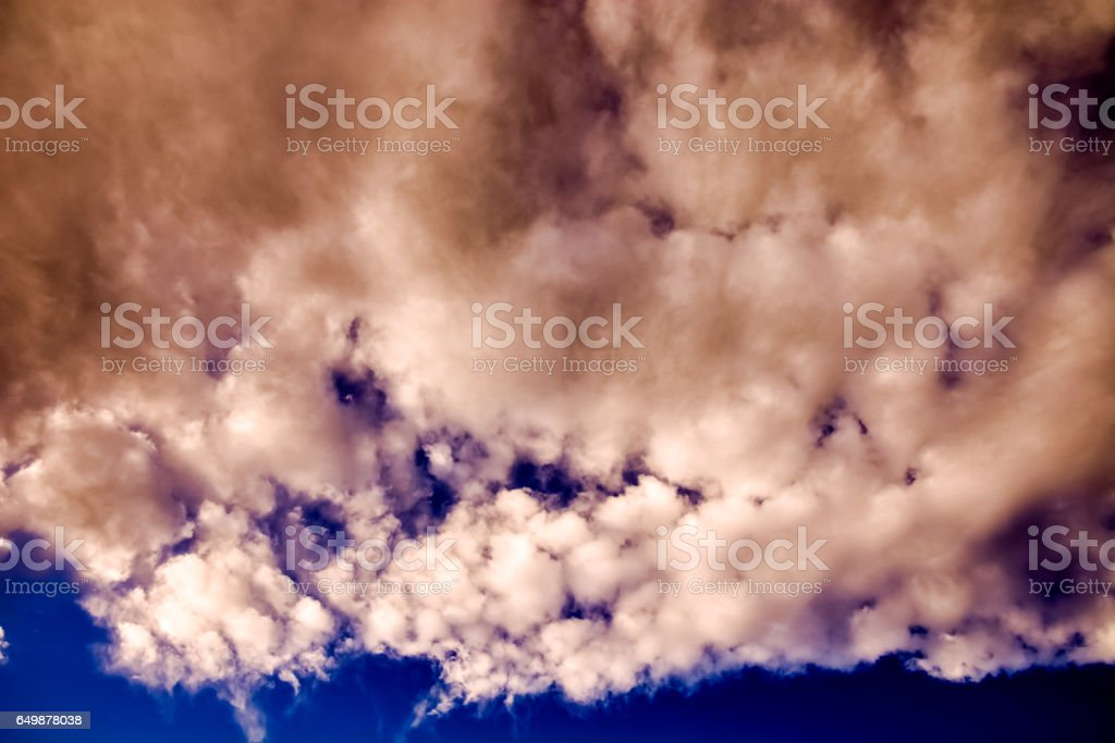 blue sky with cloud closeup stock photo