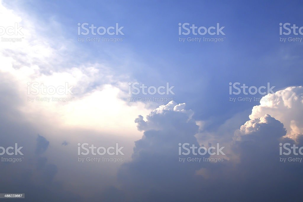 blue sky with cloud royalty-free stock photo