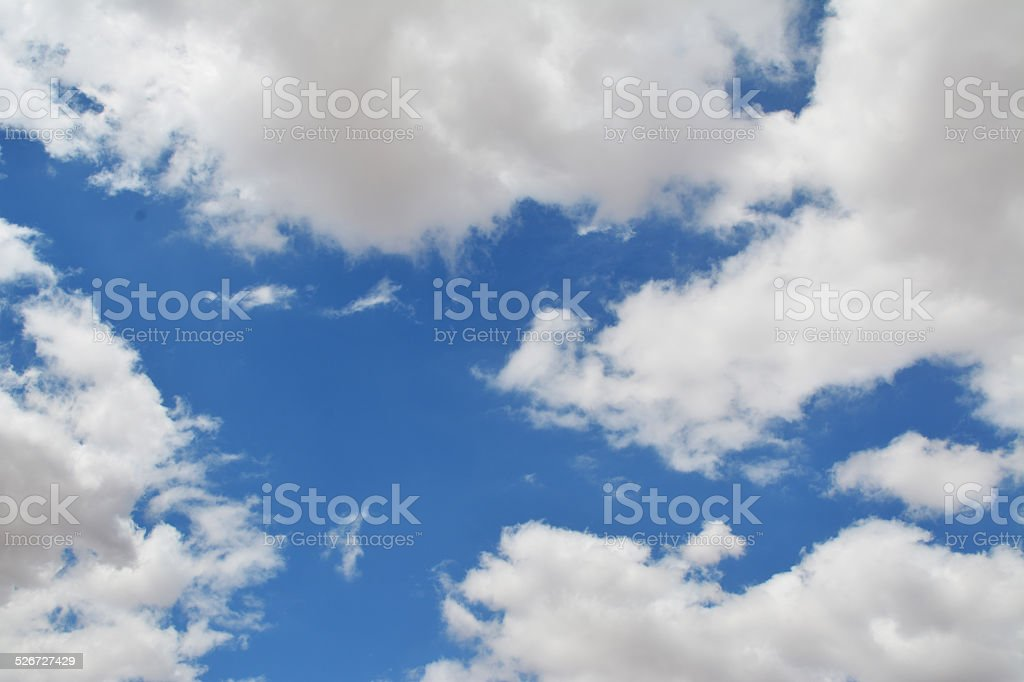 Blue Sky with Clouds 1 royalty-free stock photo