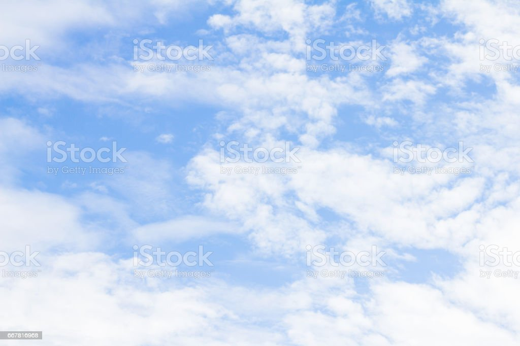 Blue sky with clouds background stock photo