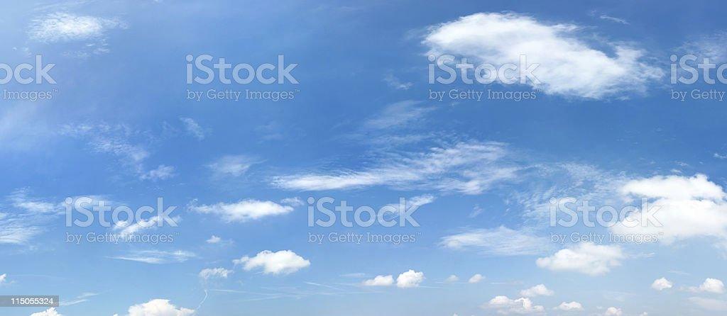 blue sky with clouds (140 Megapixel) high resolution XXXL royalty-free stock photo