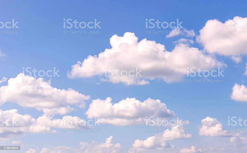 Blue sky with clouds nature for background stock photo