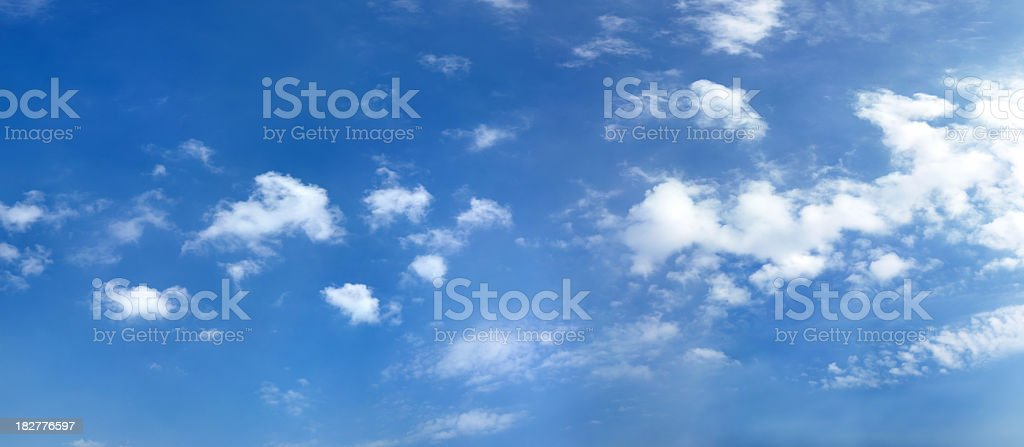 blue sky with clouds (62 MP) stock photo