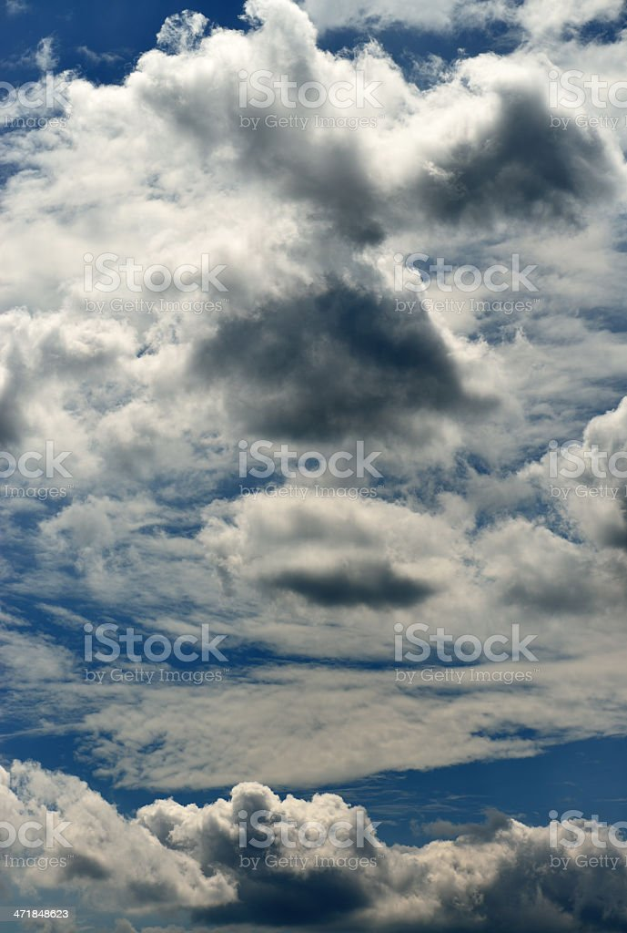 Blue sky with clouds. royalty-free stock photo