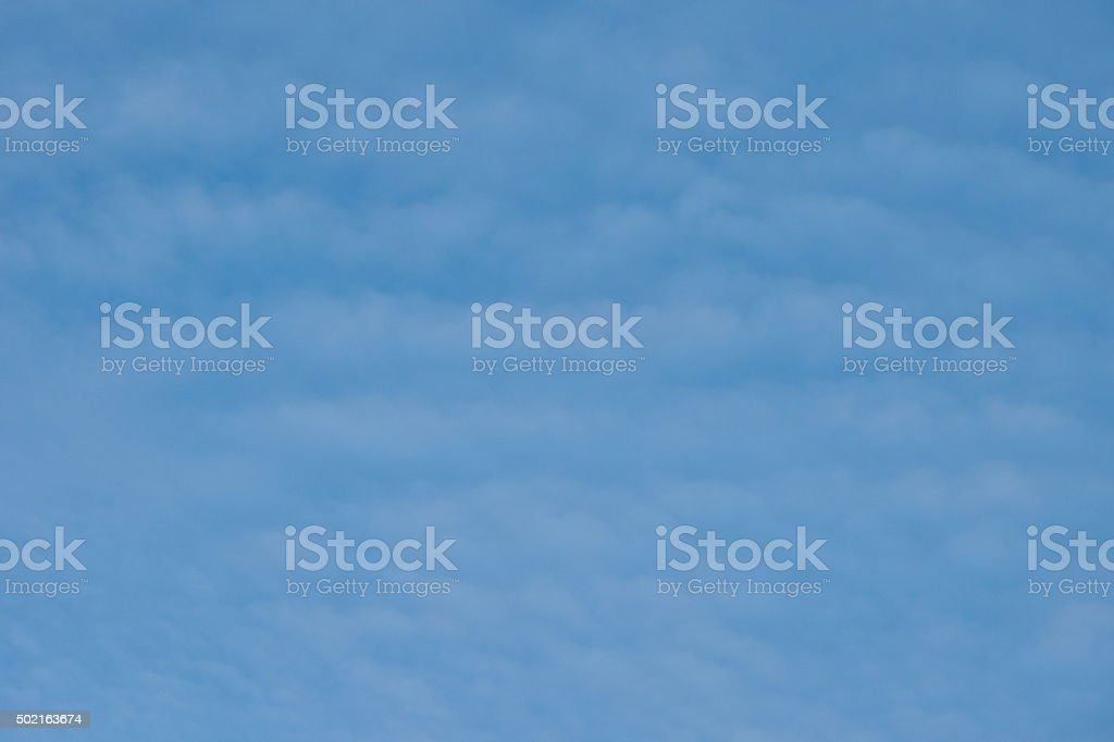 Blue Sky with Horizontal Cirus Clouds stock photo