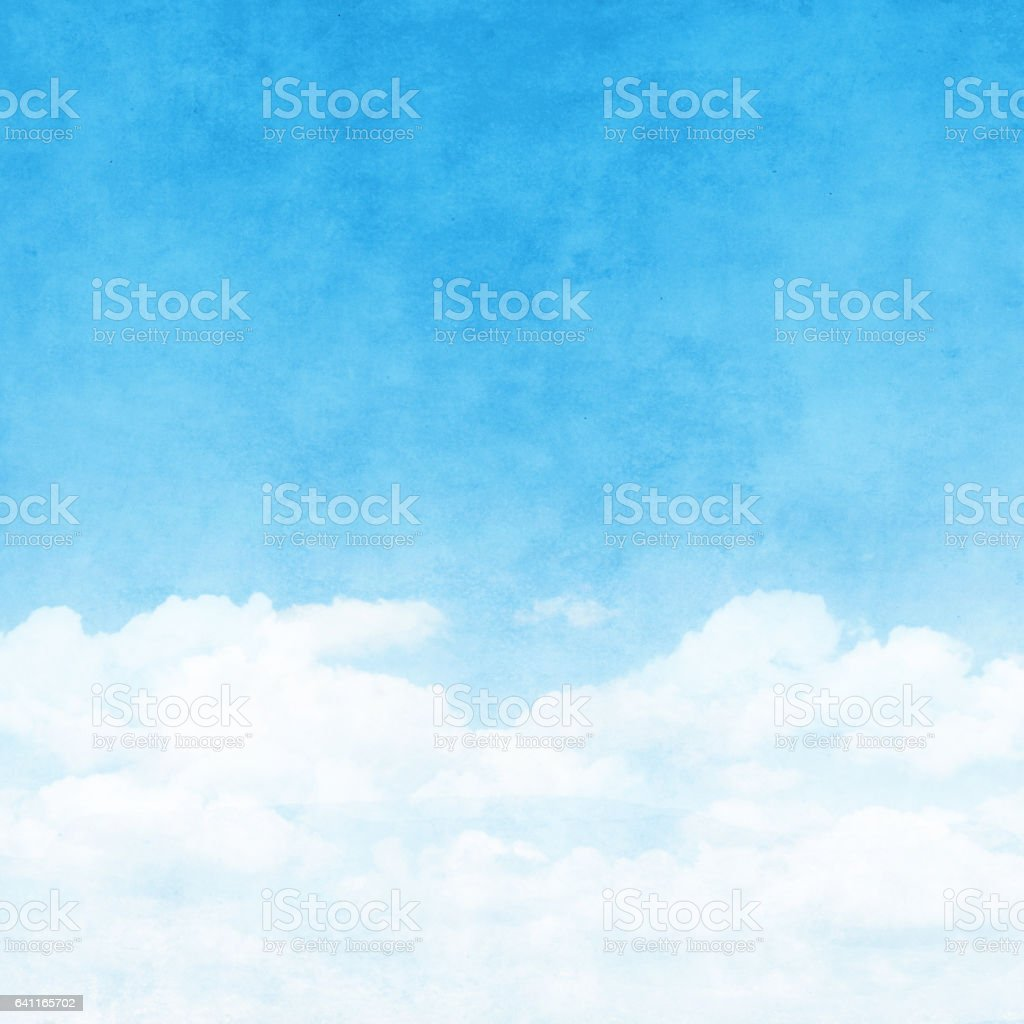 Blue sky with in grunge style. stock photo