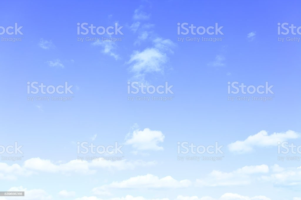 Blue sky with light clouds stock photo
