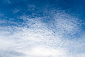 Blue Sky with light white clouds background.