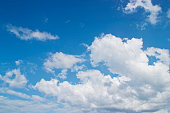 Blue sky with pattern of white cloud