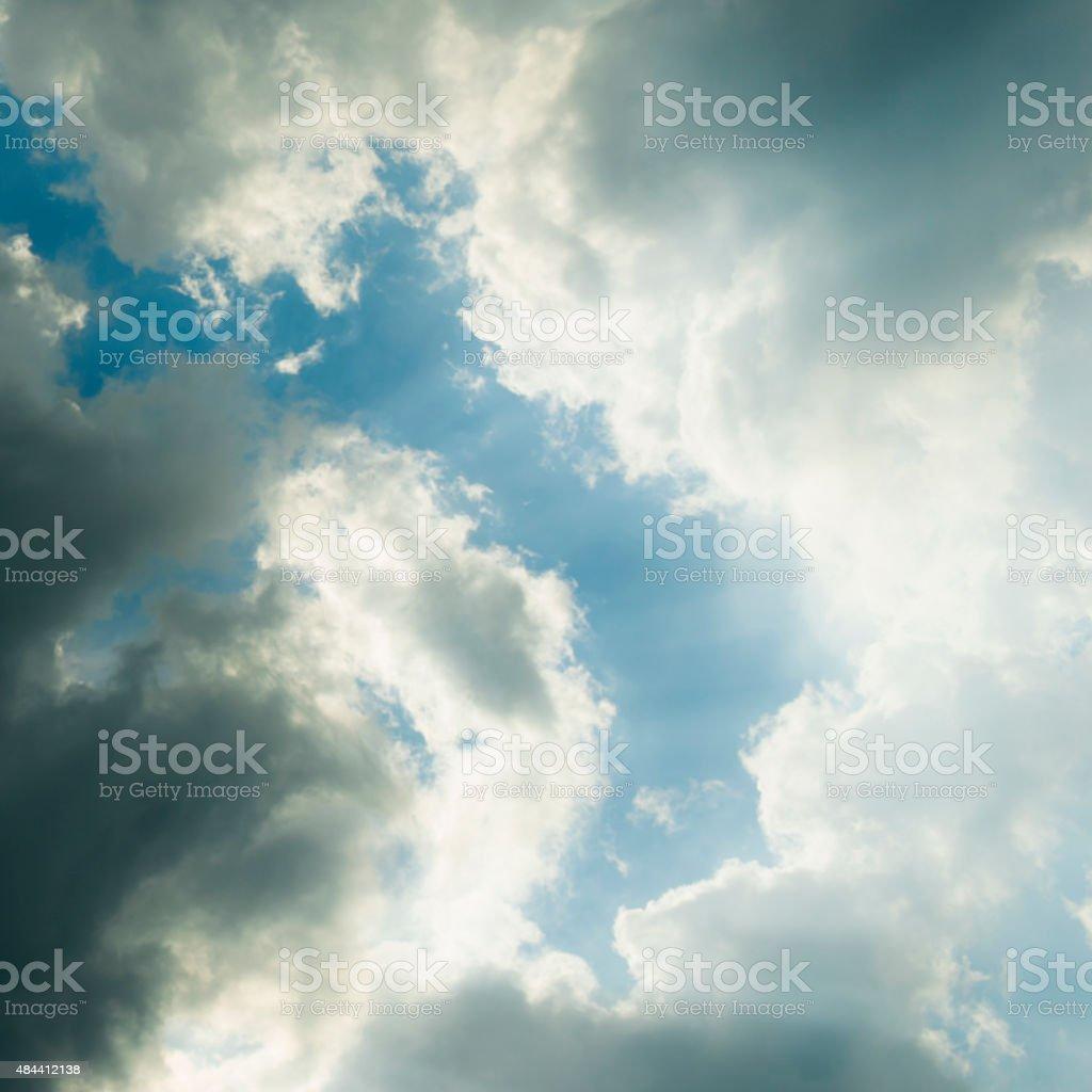 Blue sky with rainny cloud royalty-free stock photo