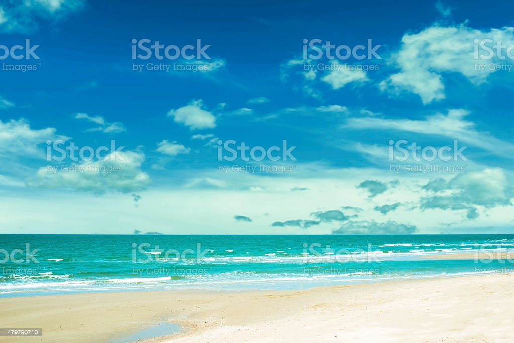 blue sky with sea and beach royalty-free stock photo