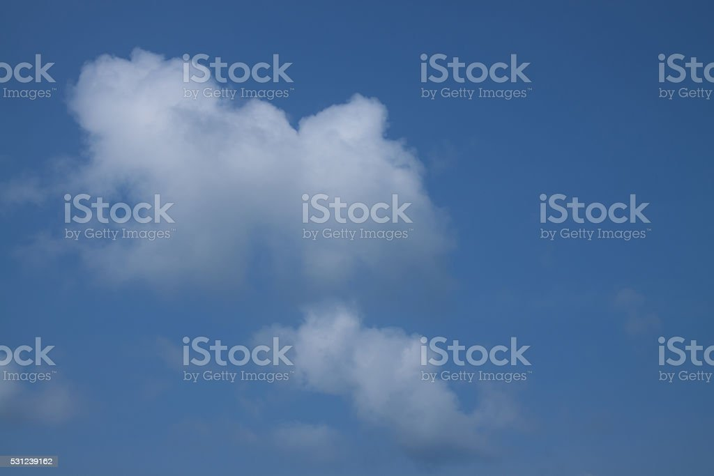 Blue sky with white cloud royalty-free stock photo