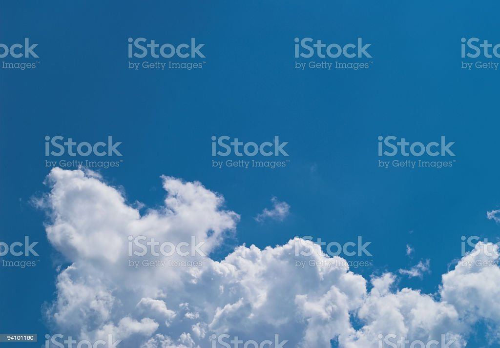 Blue sky with white clouds at midday - image 11 royalty-free stock photo