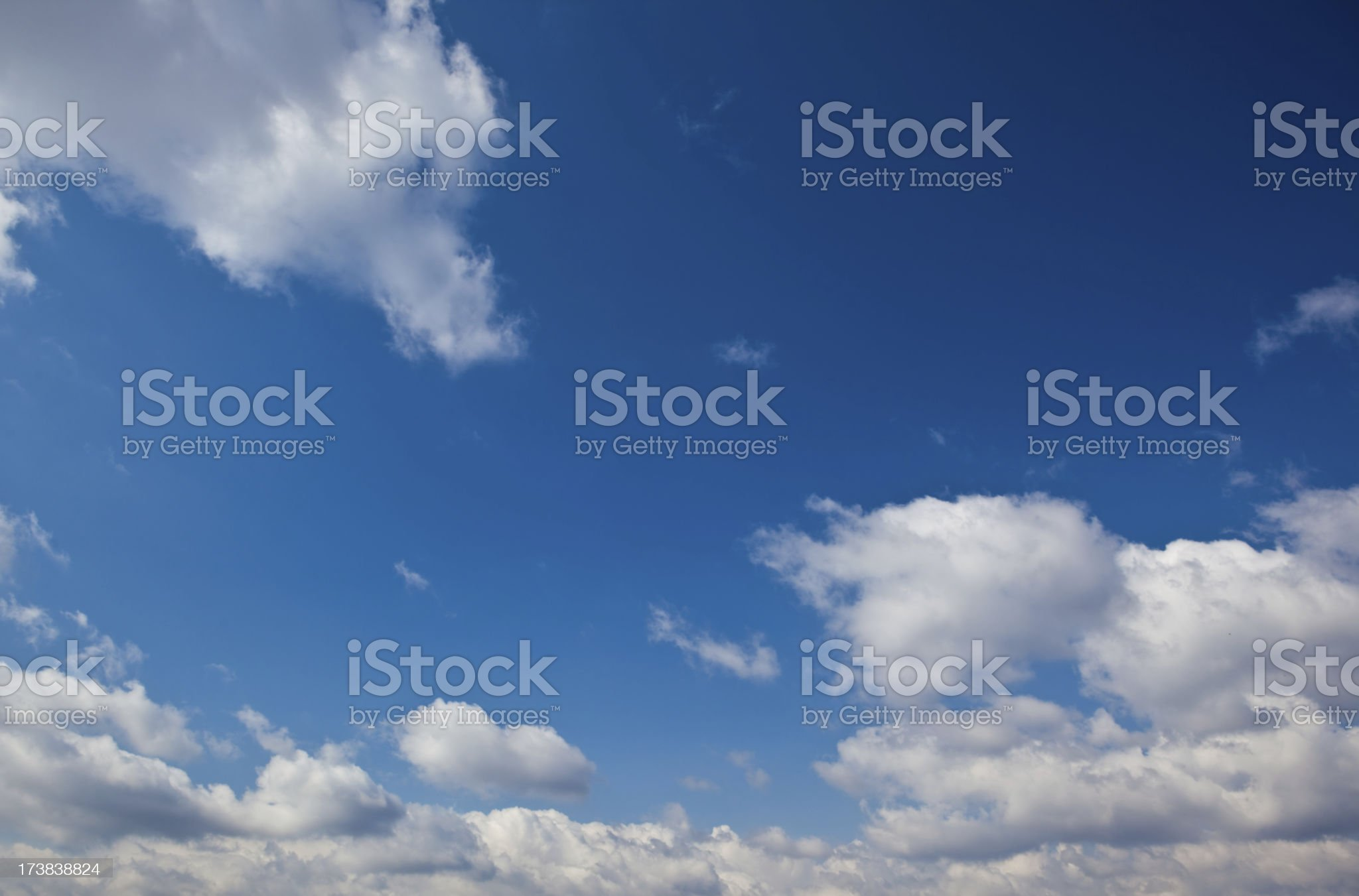 blue sky with white clouds background royalty-free stock photo