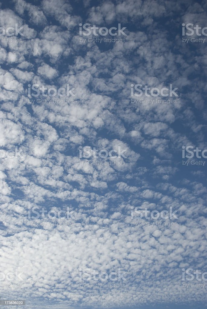 Blue Sky with White Clouds royalty-free stock photo