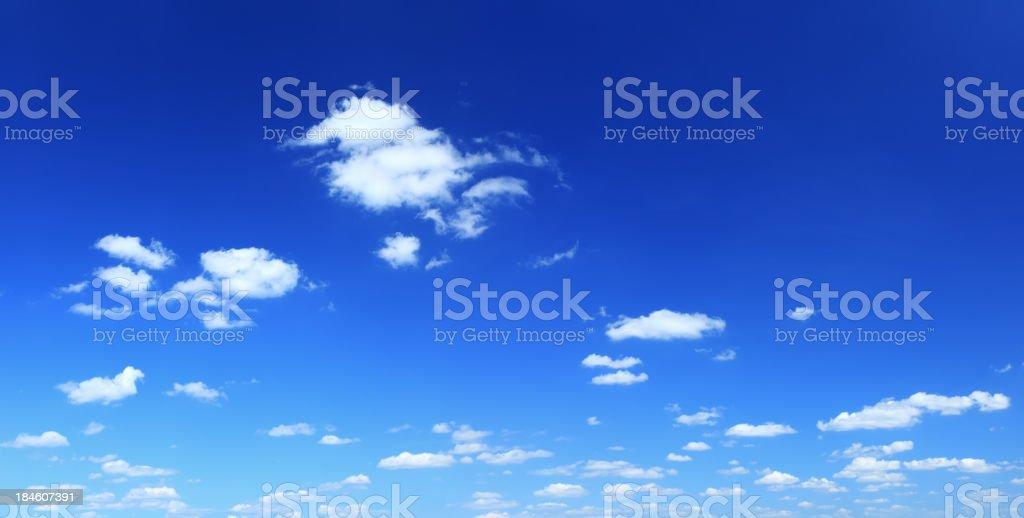 Blue Sky - XXXLarge Cloudscape Panorama royalty-free stock photo