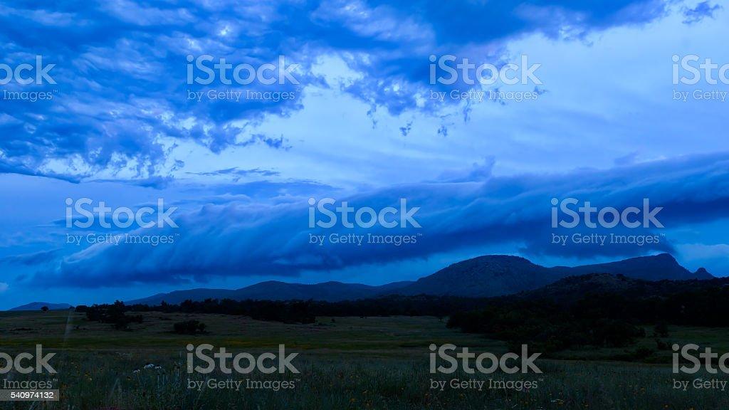 Blue skys stock photo