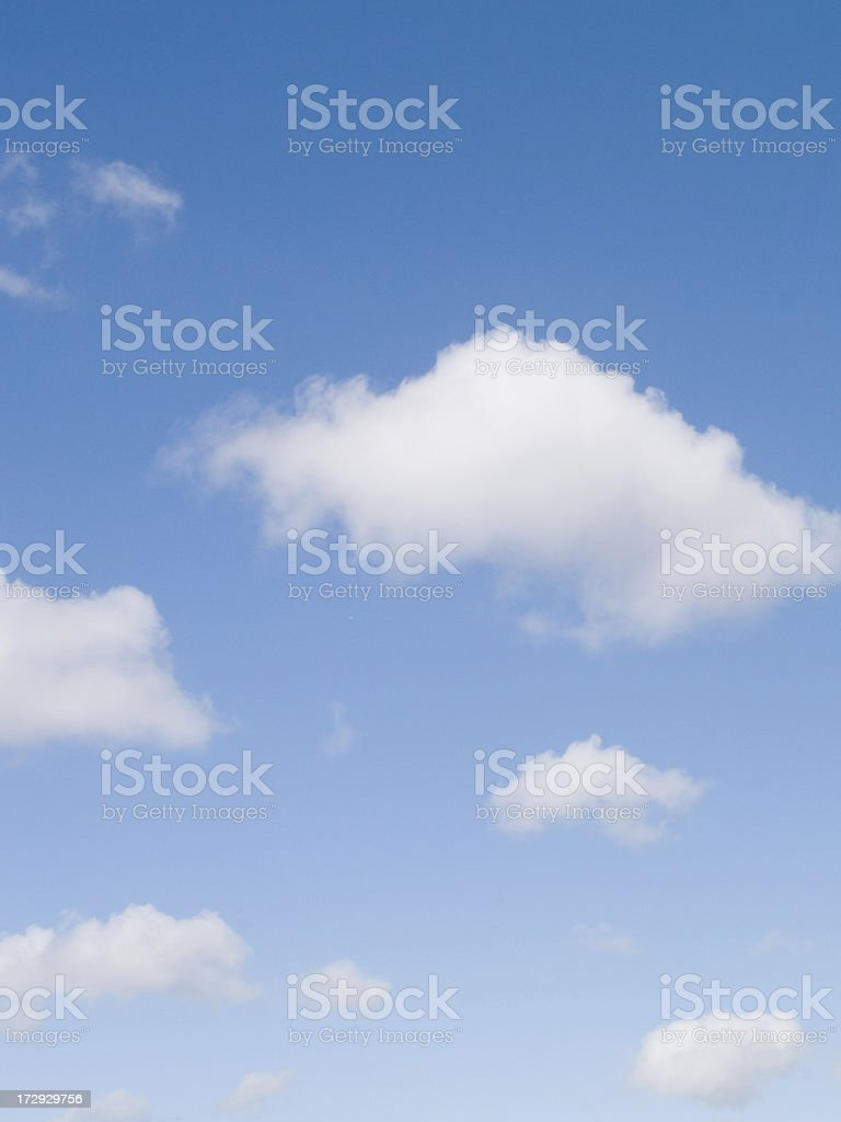 Blue skyscape with light broken cloud royalty-free stock photo