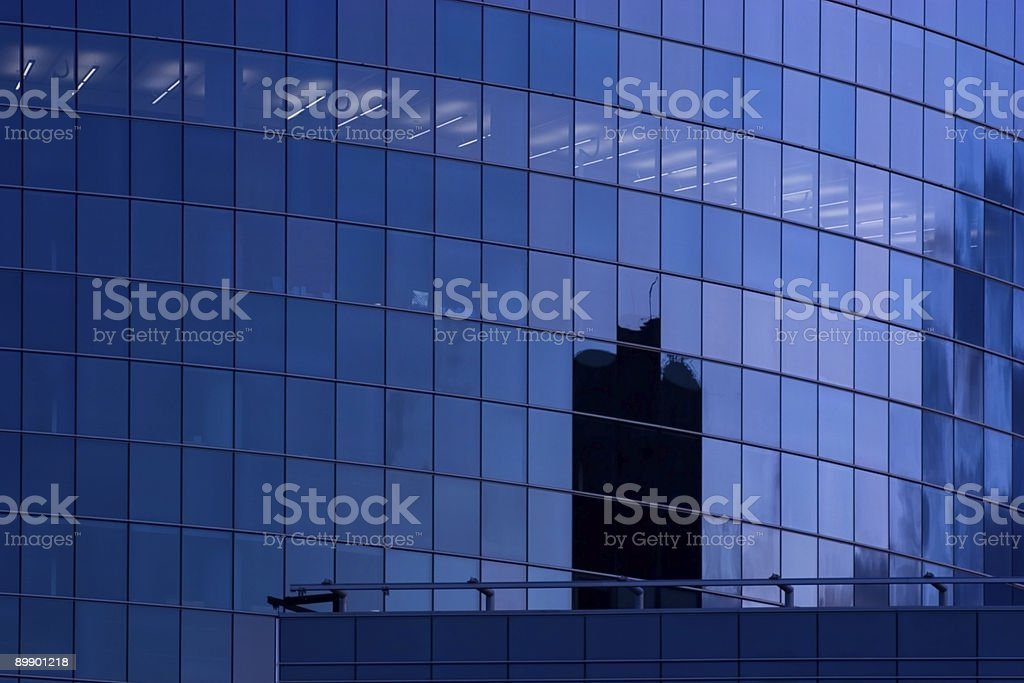 Blue skyscraper building windows royalty-free stock photo