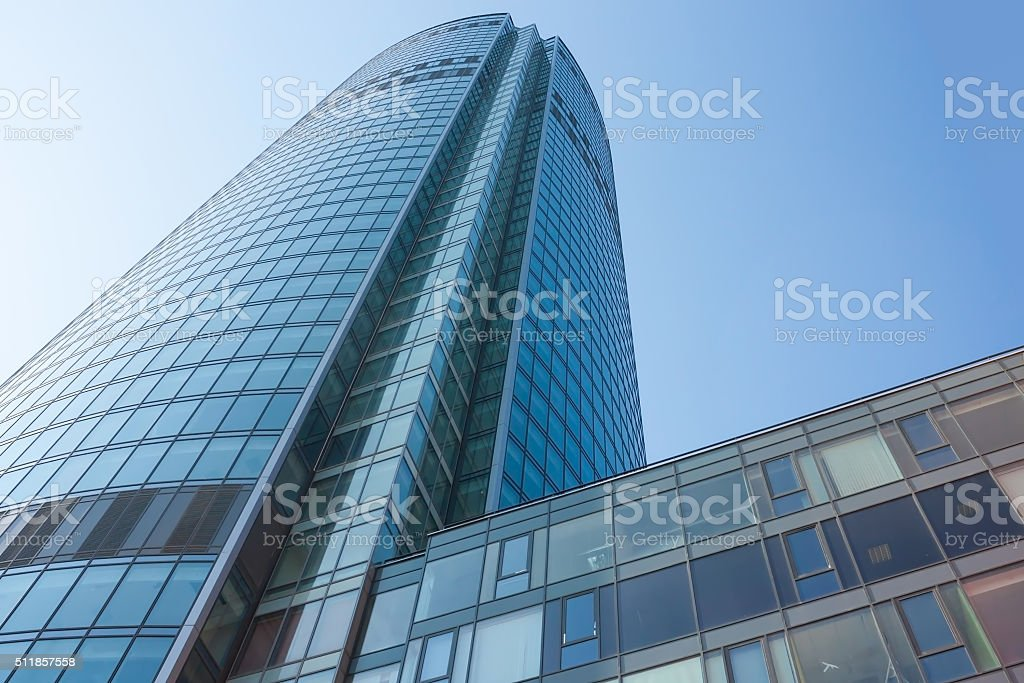 Blue skyscraper facade royalty-free stock photo