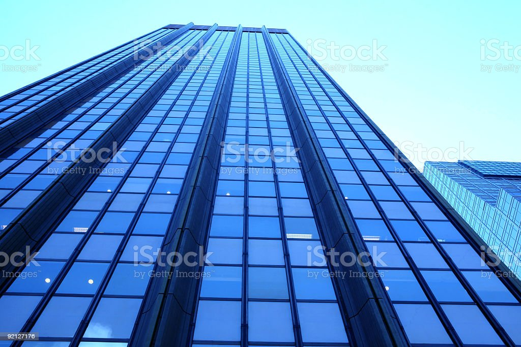 blue skyscraper royalty-free stock photo