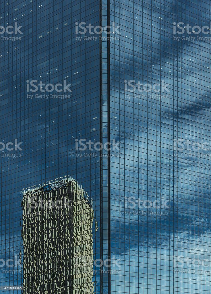 Blue Skyscraper, Sydney with Cloudscape and Tower Reflection royalty-free stock photo