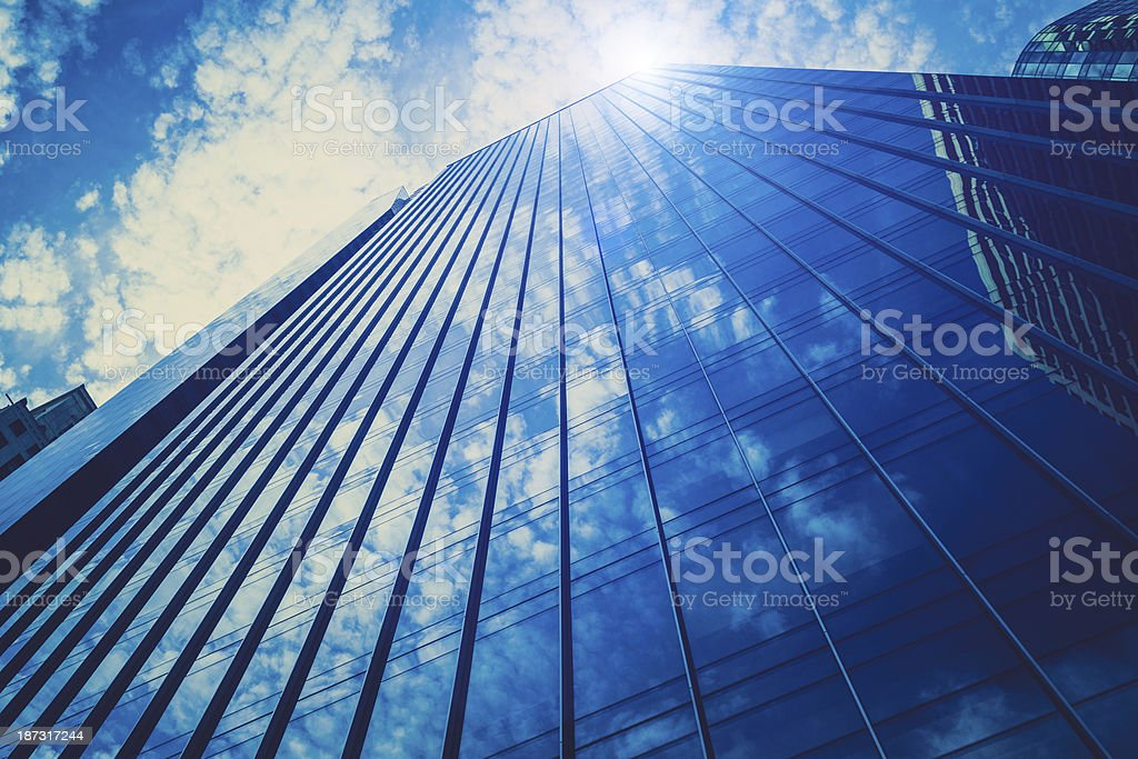 Blue Skyscrapers in Downtown Philadephia, USA royalty-free stock photo