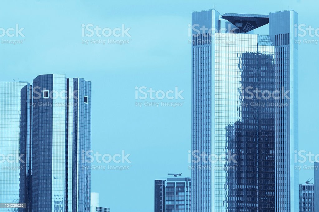 Blue Skyscrapers royalty-free stock photo