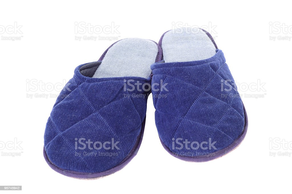 Blue slippers royalty-free stock photo