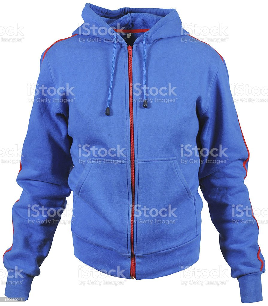 blue smock with hood stock photo
