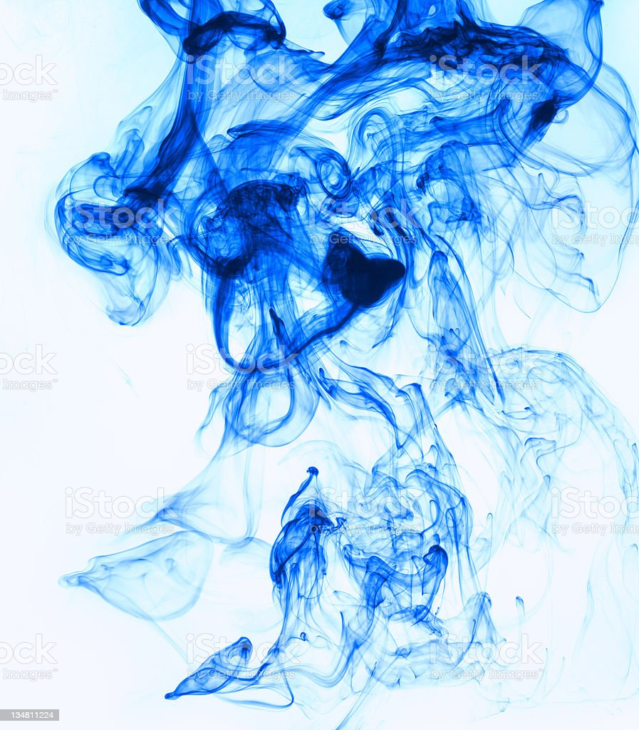 Blue smoke 1 royalty-free stock photo