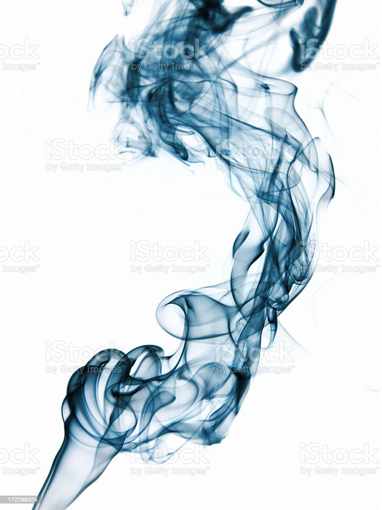 Blue Smoke Abstract royalty-free stock photo