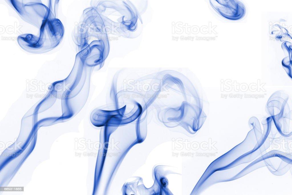 Blue Smoke Composition stock photo