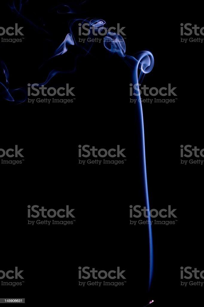 Blue smoke linha. vetor e ilustração royalty-free royalty-free