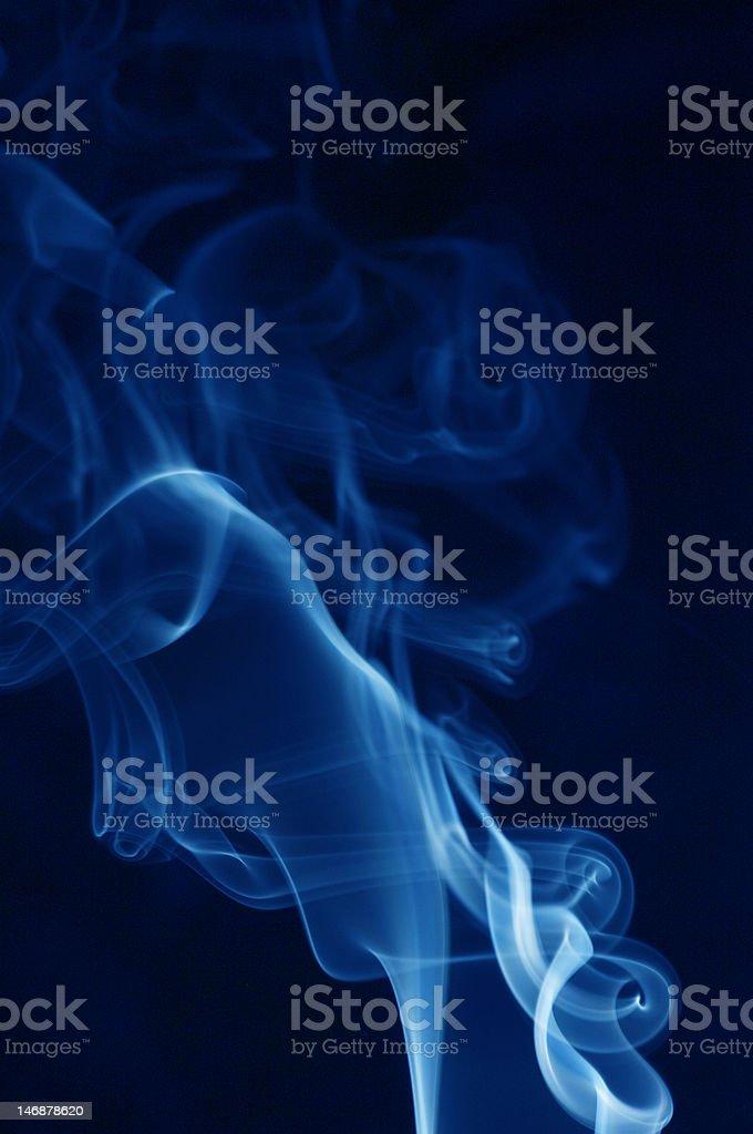 Blue smoke wave royalty-free stock photo