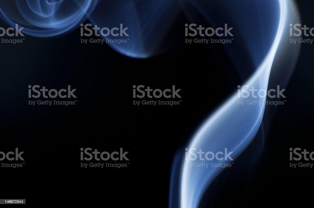 Blue smoke waves royalty-free stock photo