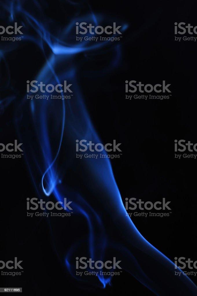 Blue smokes royalty-free stock photo