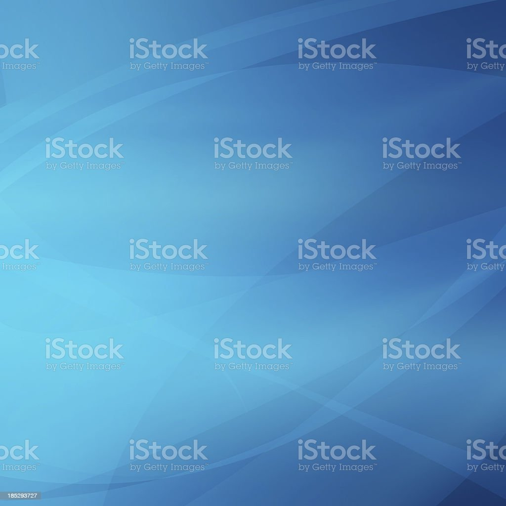 A blue, smooth abstract background with lines stock photo