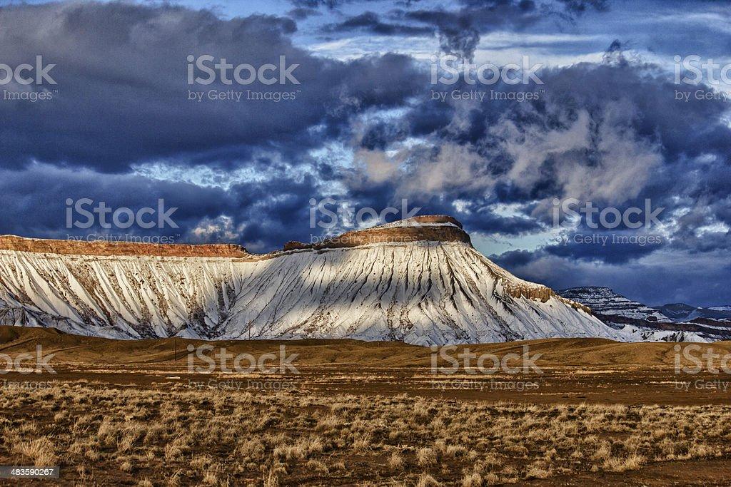Blue Snow stock photo
