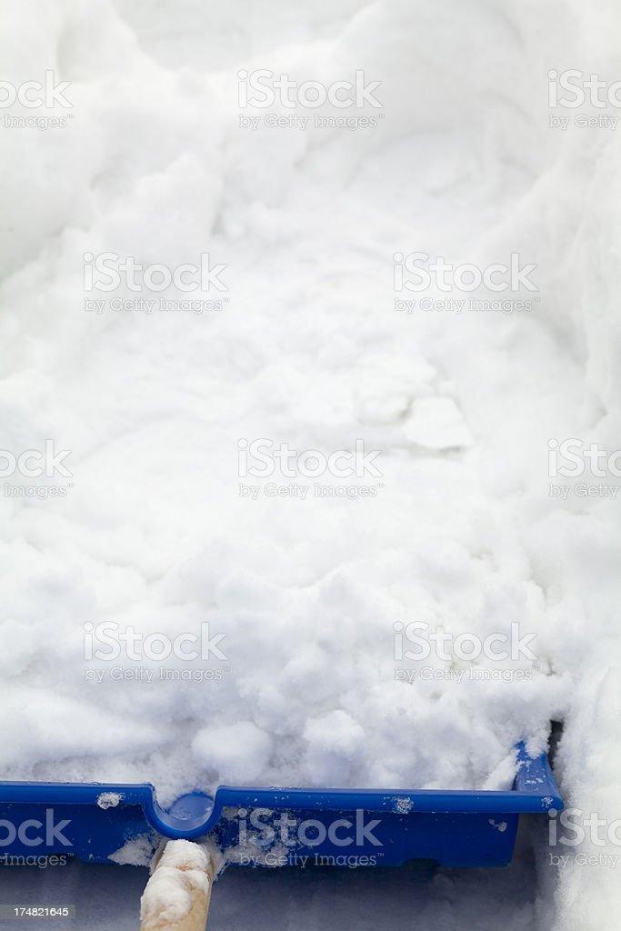 Blue Snow Shovel royalty-free stock photo