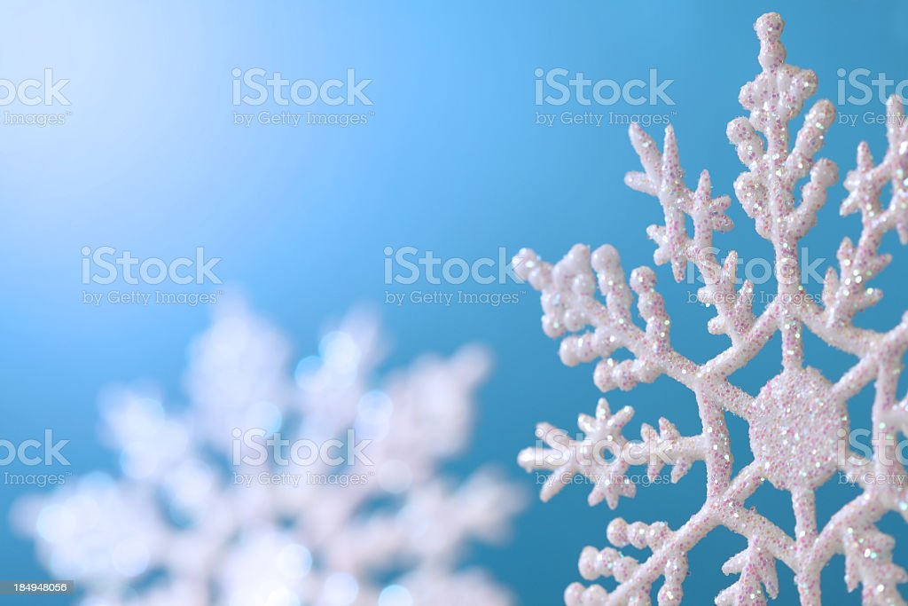Blue Snowflake Christmas Background royalty-free stock photo
