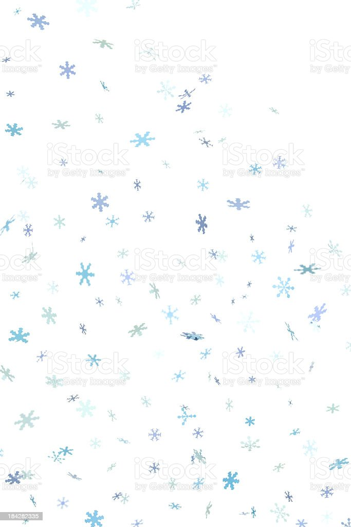 Blue Snowflake Confetti Background stock photo