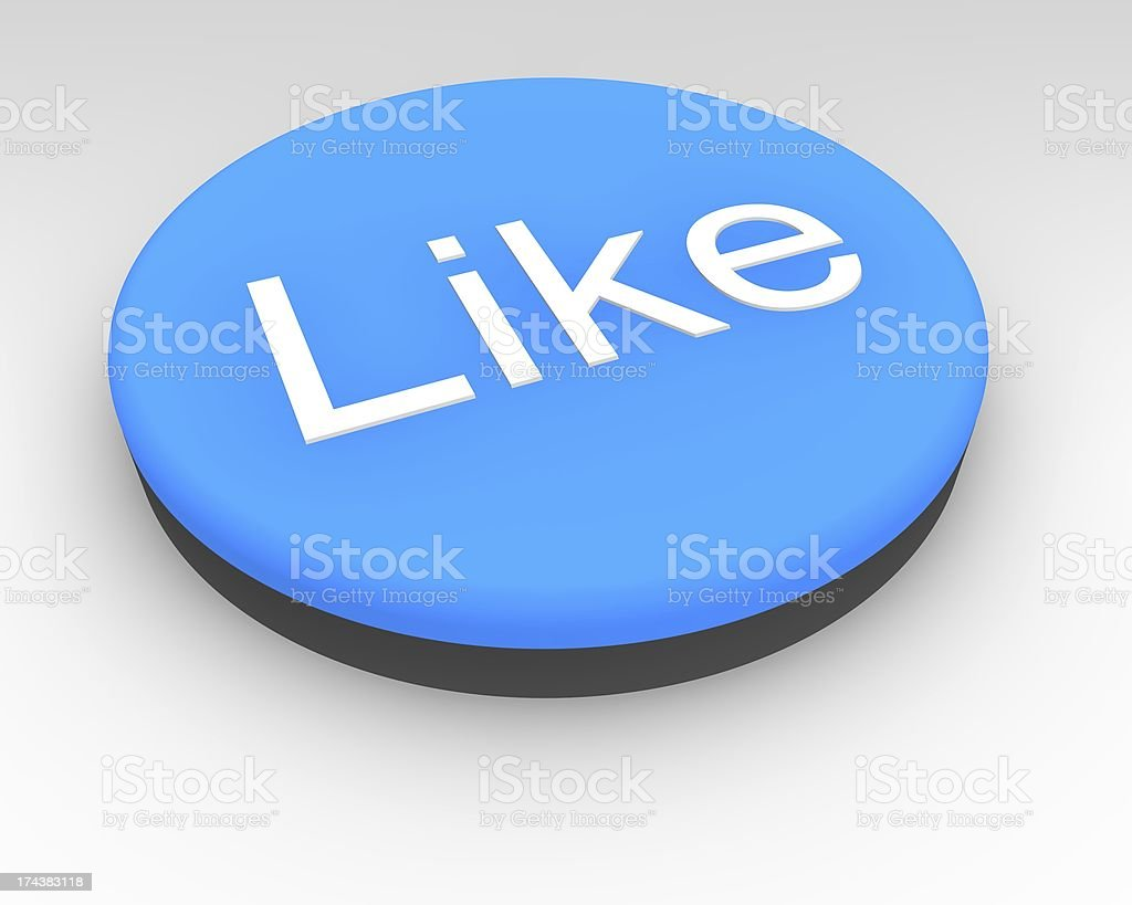 Blue Social Media Like Button royalty-free stock photo