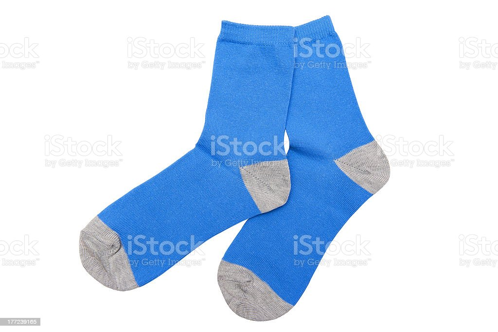 Blue socks stock photo