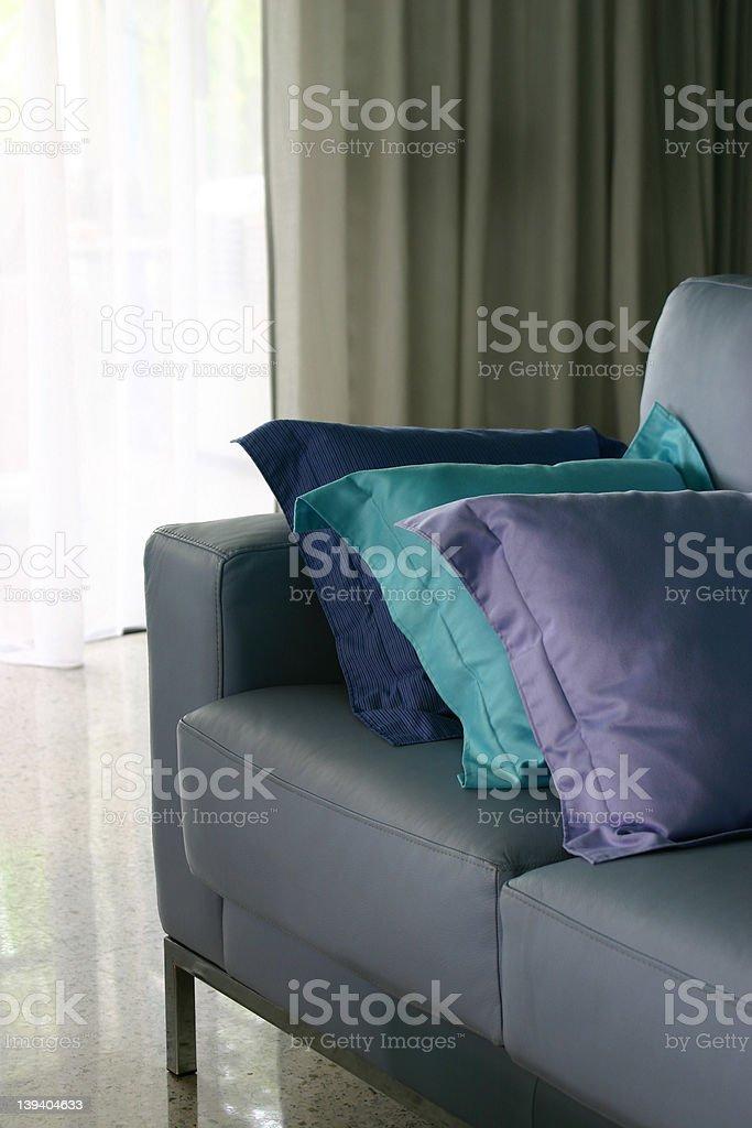 Blue Sofa royalty-free stock photo